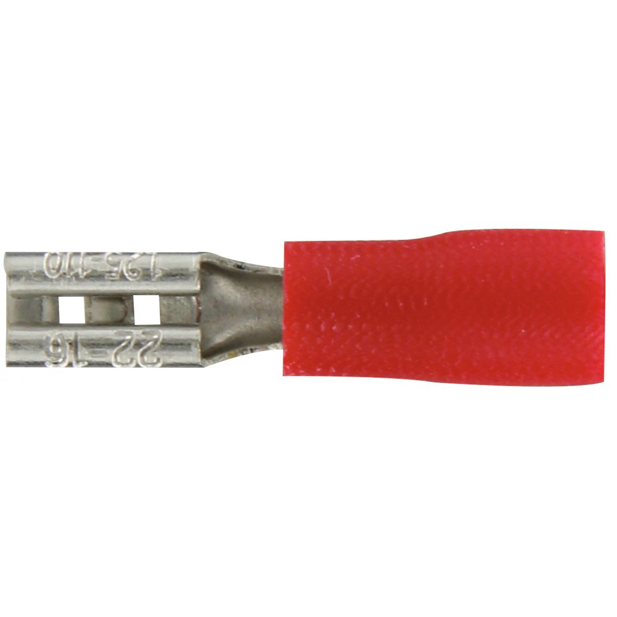 Clip femelle pré isolé Dhome - Rouge - Diamètre 2,80 mm - Vendu par 10