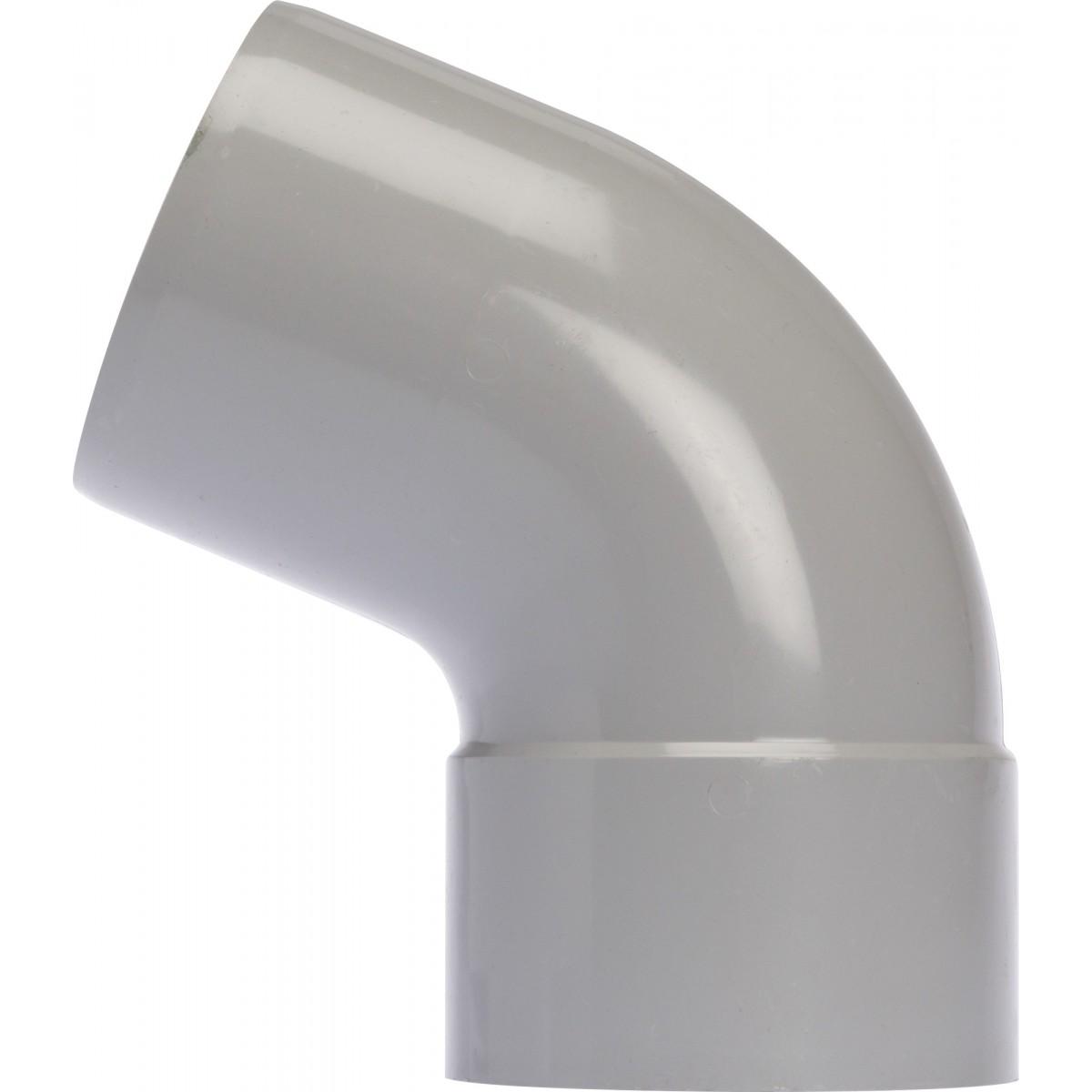 Coude diamètre 80 Mâle / Femelle Girpi - 67°30 - Gris