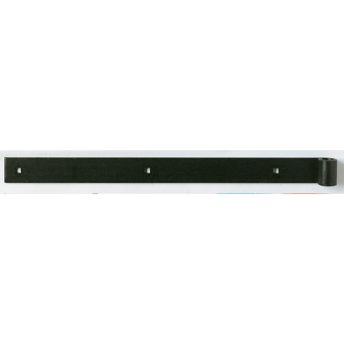 Penture queue carrée droite Poulain - Gond 16 mm - Fer 40 x 5 mm - Longueur 100 cm