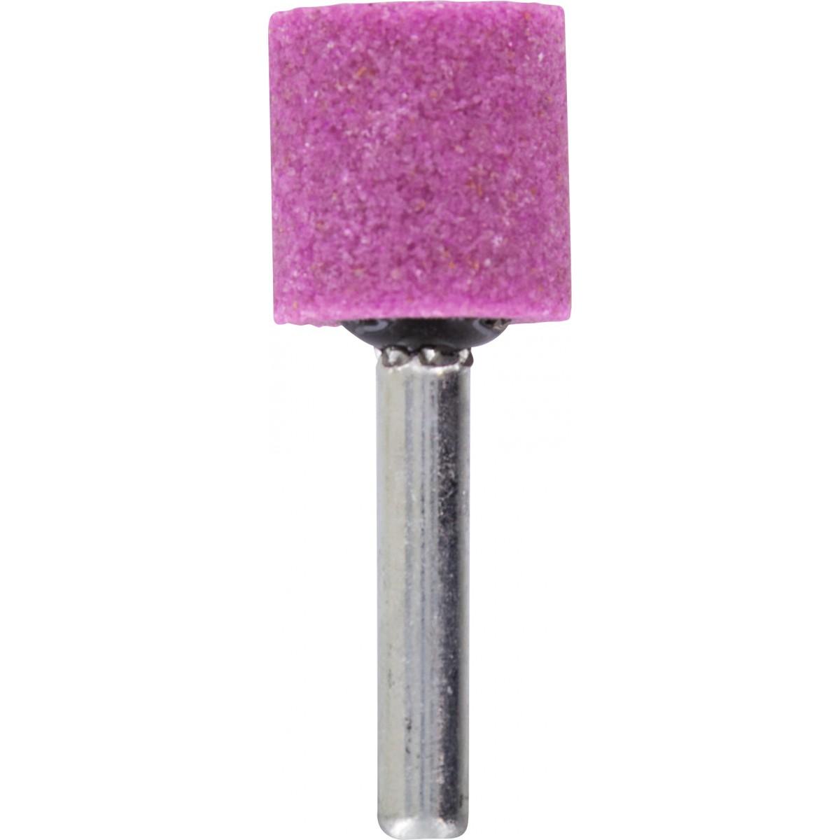 Meule sur tige au corindon rose SCID - Cylindrique - Diamètre 20 mm - Hauteur 20 mm