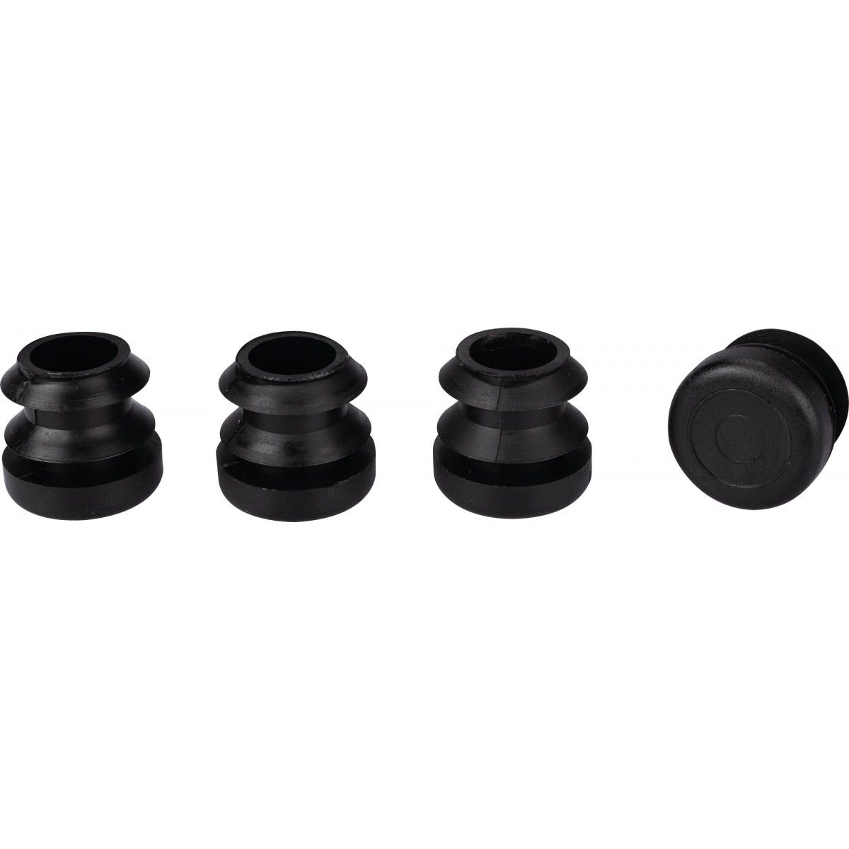 Embout rentrant plastique noir 3M - Diamètre 22 mm - Vendu par 4