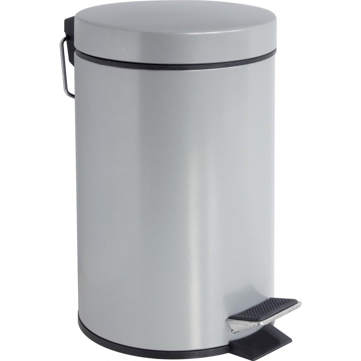Poubelle à pédale Hally Gelco Design - Silver - 3 l