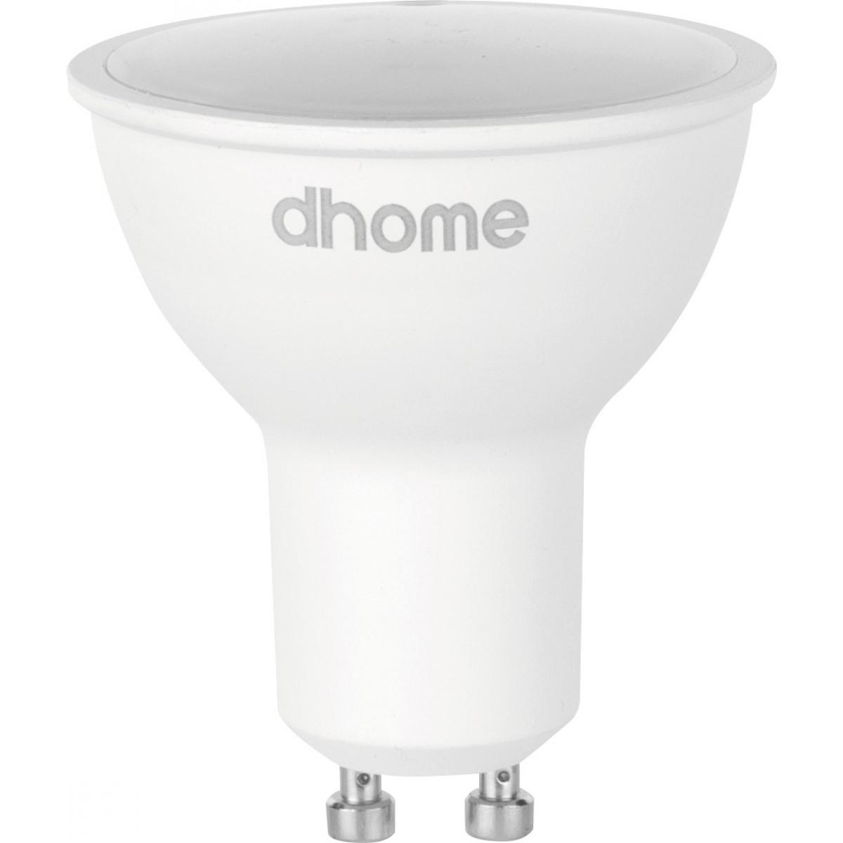 Ampoule LED GU10 dhome - 100° - 420 Lumens - 6 W - 4000 K - Vendu par 10