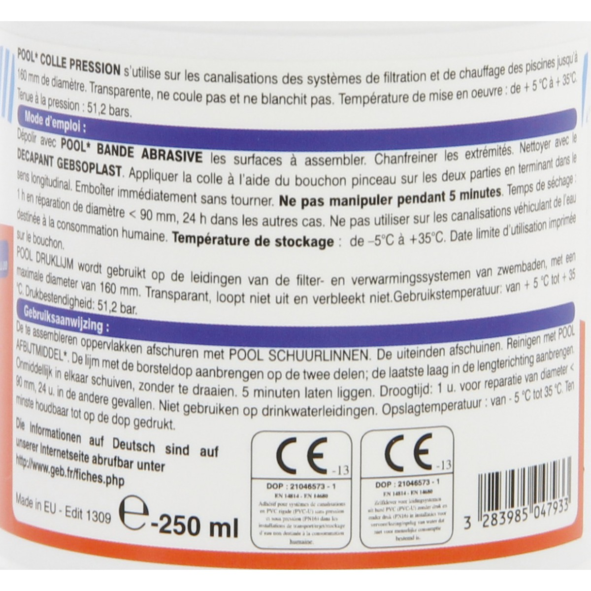 Colle pression Geb - 250 ml