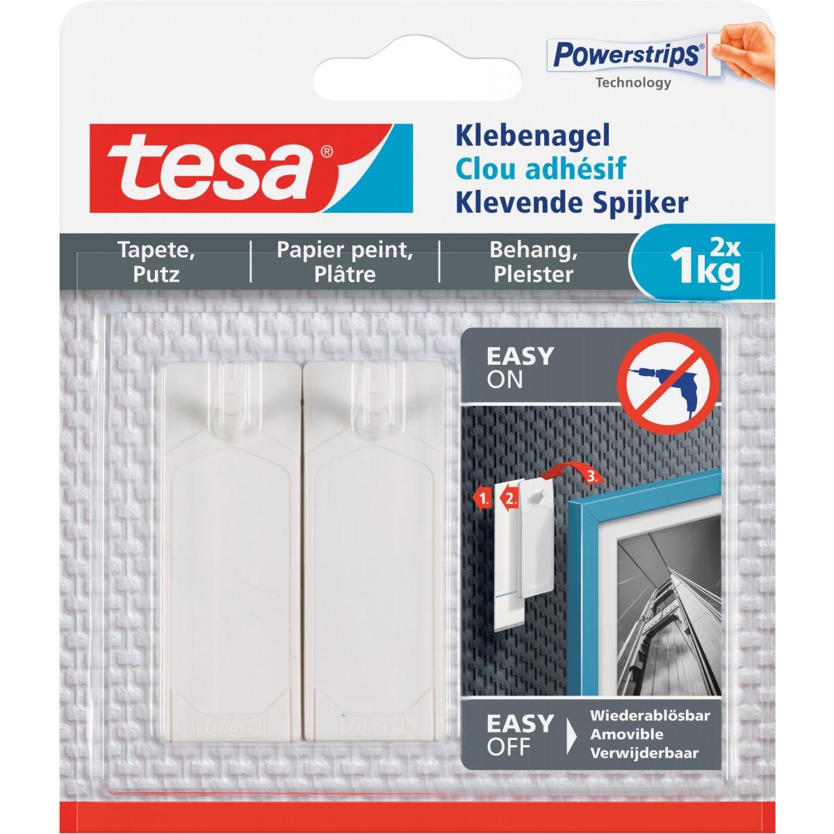 Clou adhésif pour papier peint et plâtre tesa® - 1 kg