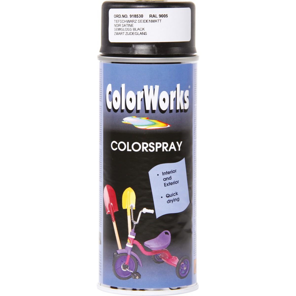 Peinture satinée Colorworks - Noir satiné