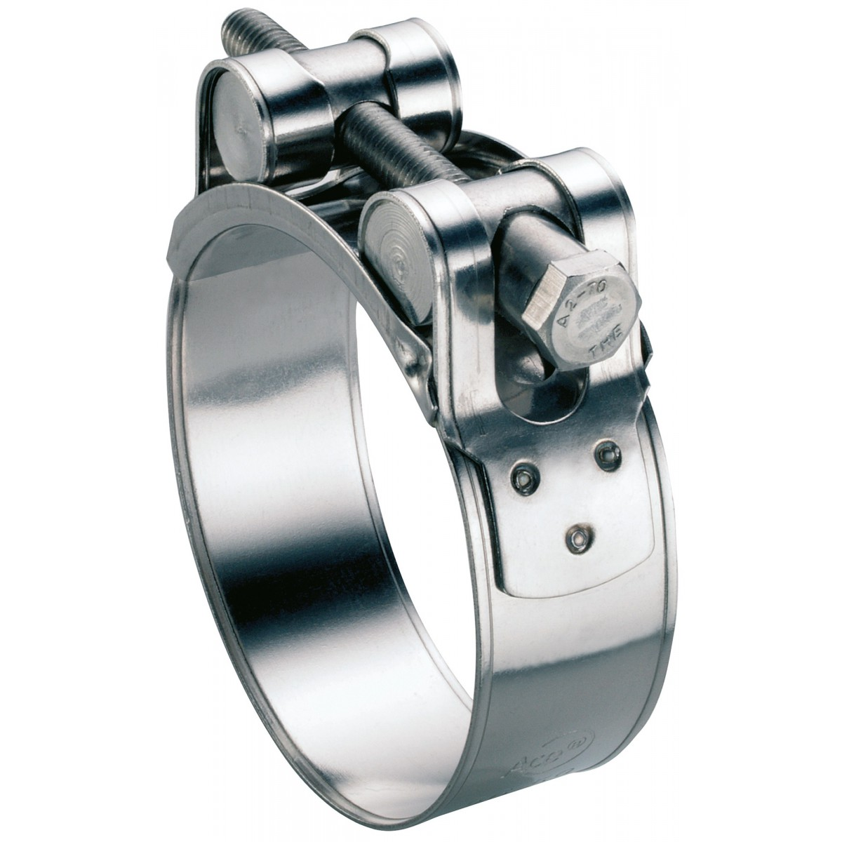 Collier à tourillons inox W4 Ace - Diamètre 23 - 25 mm - Vendu par 5