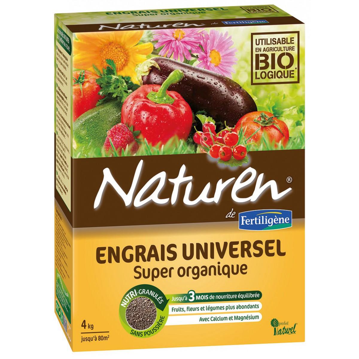 Engrais complet super organique Naturen - Sac 4 kg