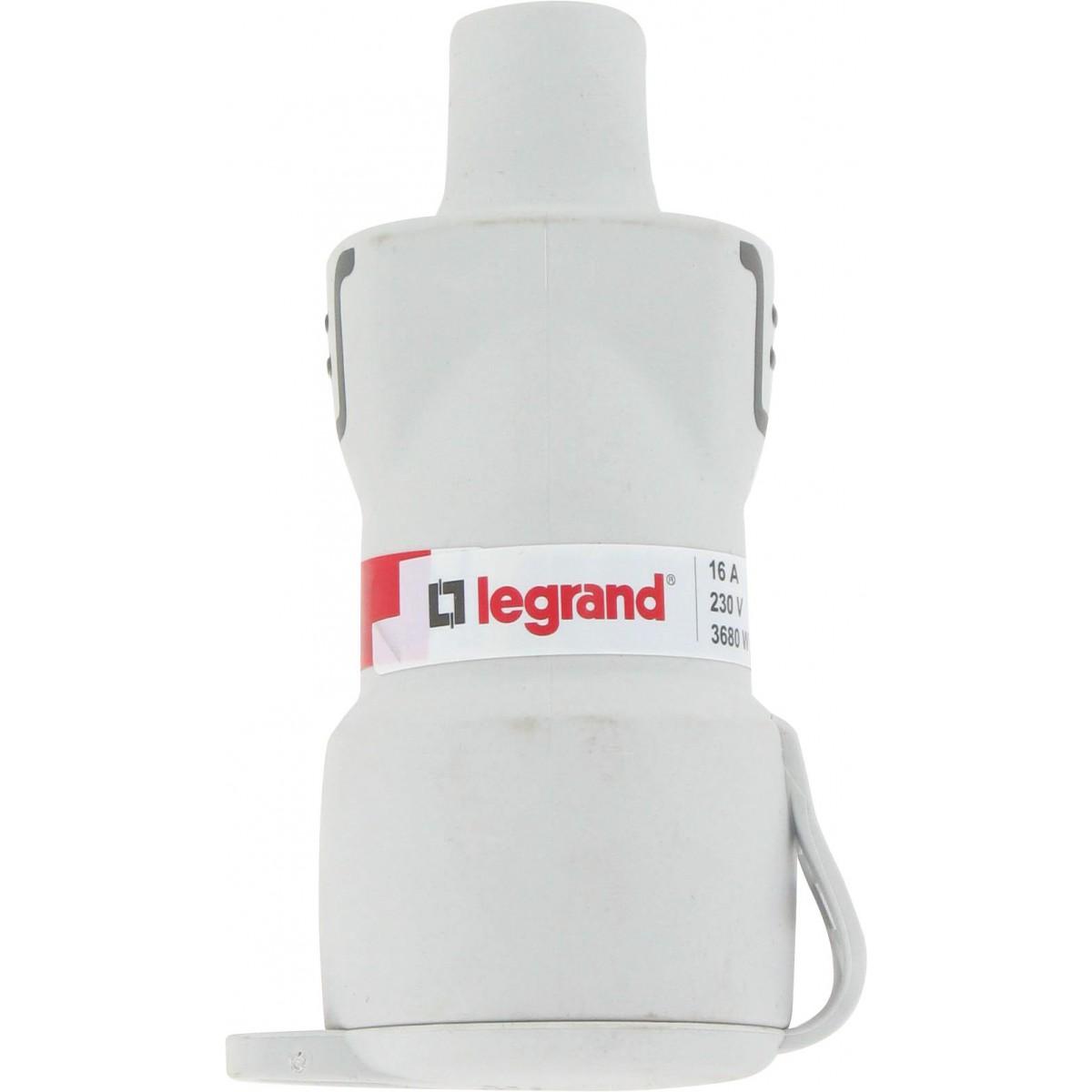 Fiche caoutchouc Plexo 2P+T 16 A Legrand - Femelle