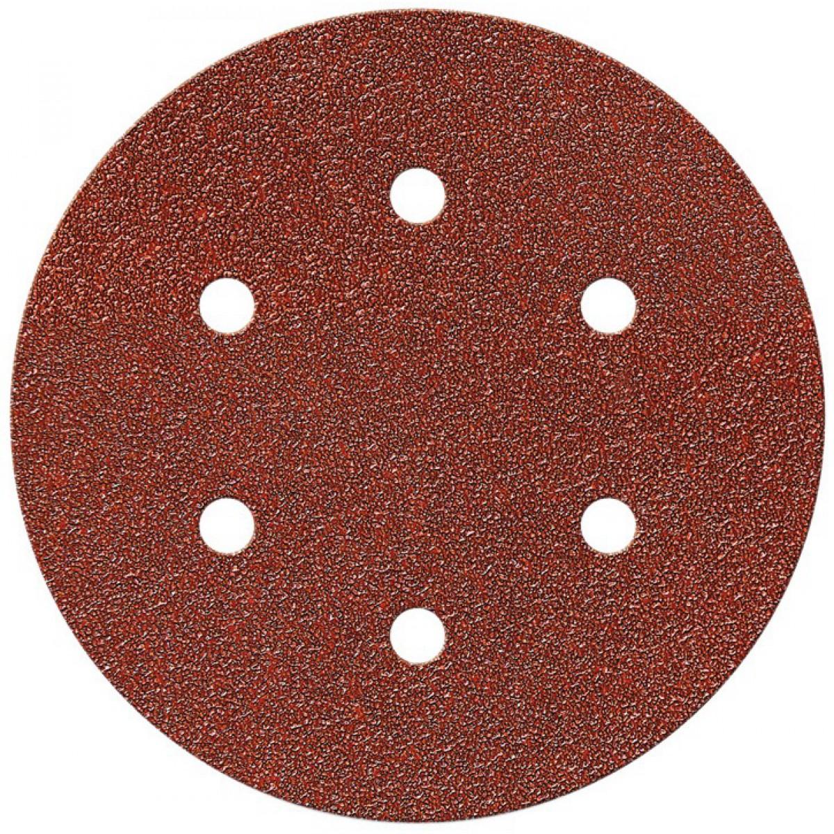 Disque auto-agrippant SCID - 6 trous - Grain 120 - Diamètre 150 mm - Vendu par 5