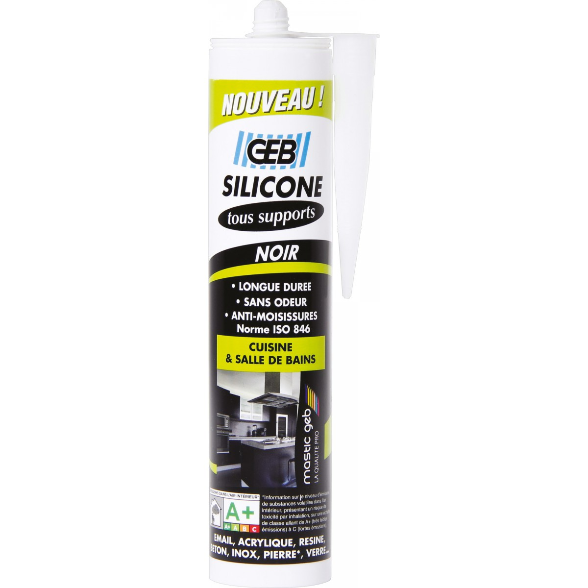 Silicone tous supports Geb - Noir