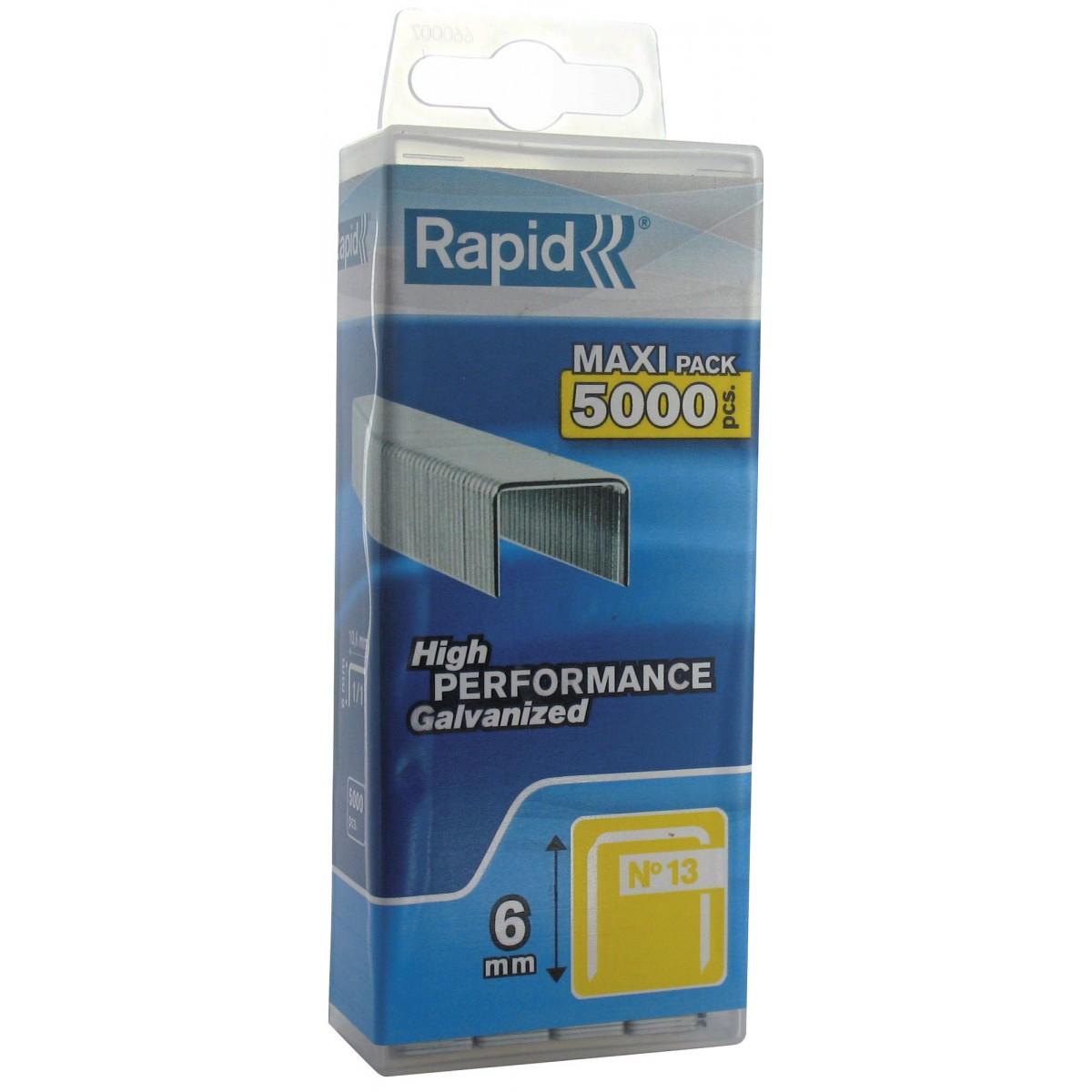 Agrafe n°13 Rapid Agraf - Hauteur 6 mm - 5000 agrafes