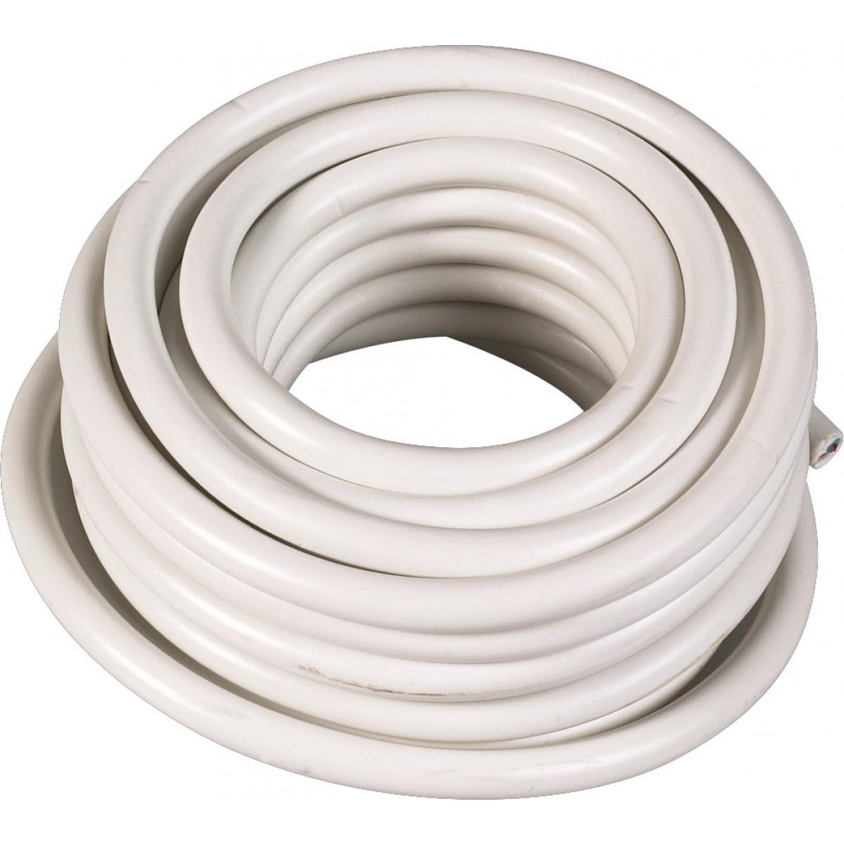 Câble H05 VV-F 1,5 mm² - Couronne 50 m - 2 x 1,5 mm² - Blanc