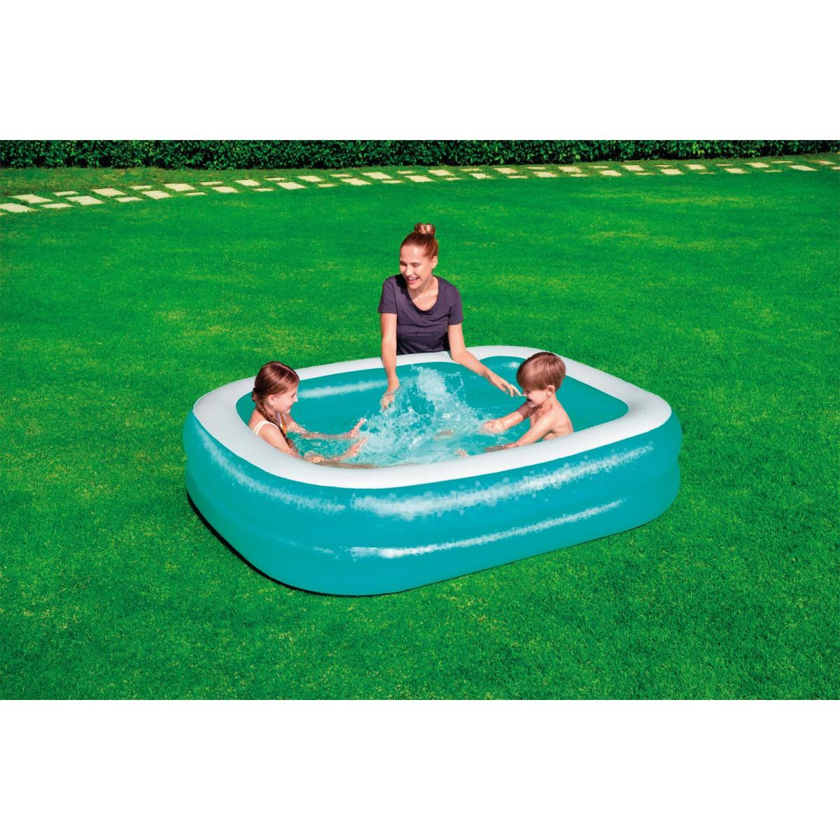 Piscine gonflable rectangulaire Bestway - Longueur 201 cm - Largeur 150 cm - Hauteur 51 cm
