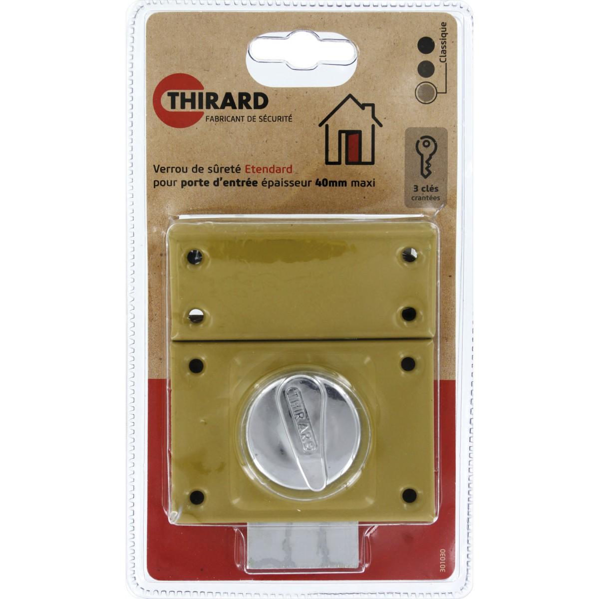 Verrou de sureté série Etendard Thirard - Dimensions 40 mm