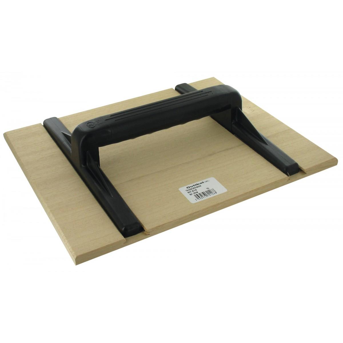 Taloche bois rectangulaire Outibat - Dimensions 26 x 33 cm