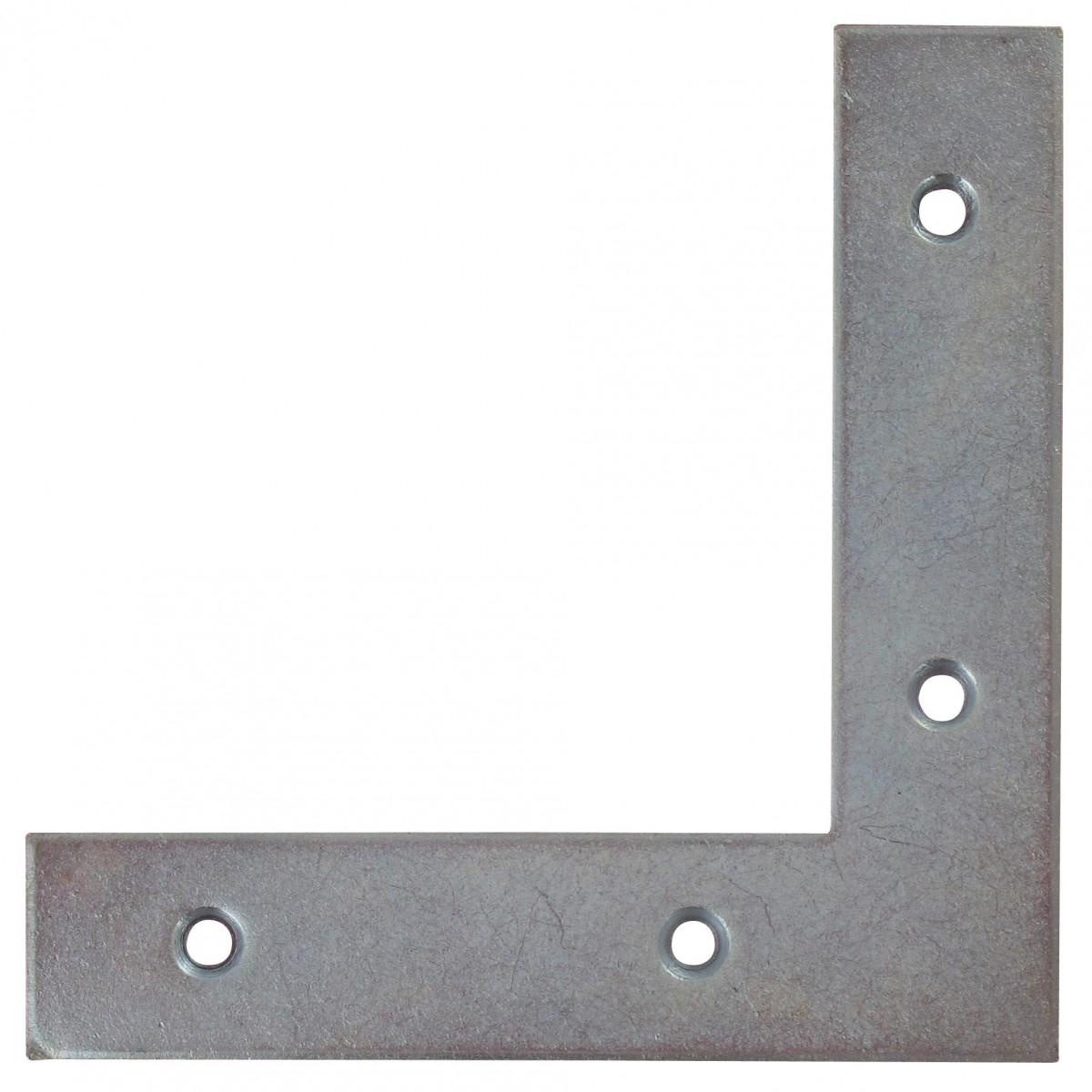 Equerre de fenêtre bouts carrés acier zingué Jardinier Massard - Dimensions 14 x 14 cm