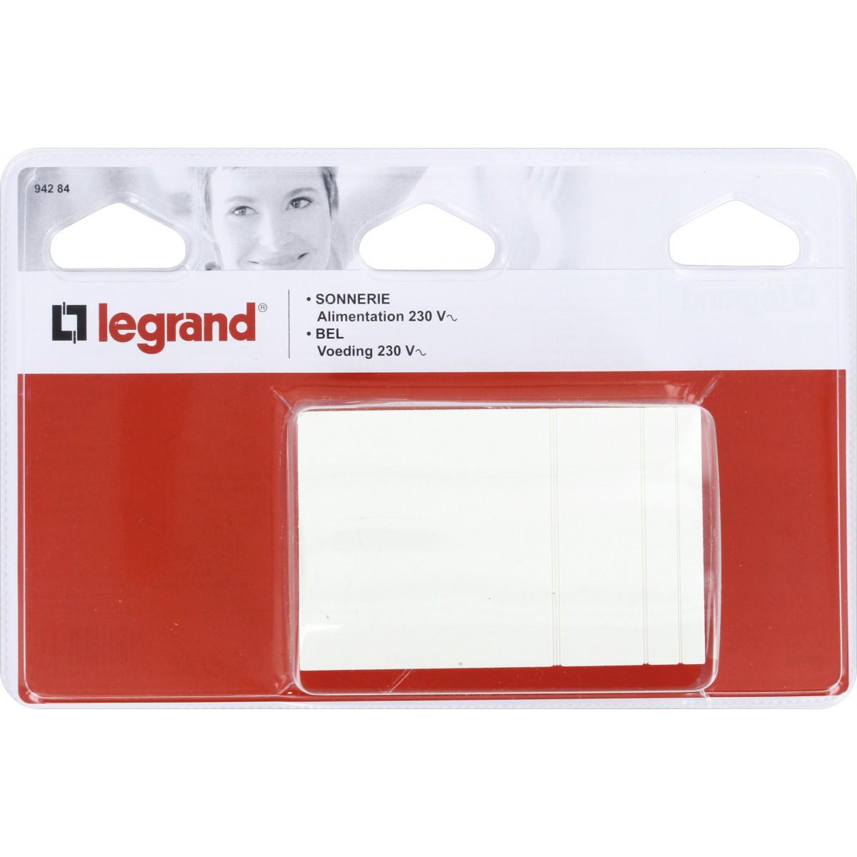 Sonnerie à timbre sans transformateur Legrand - Tension 230 V