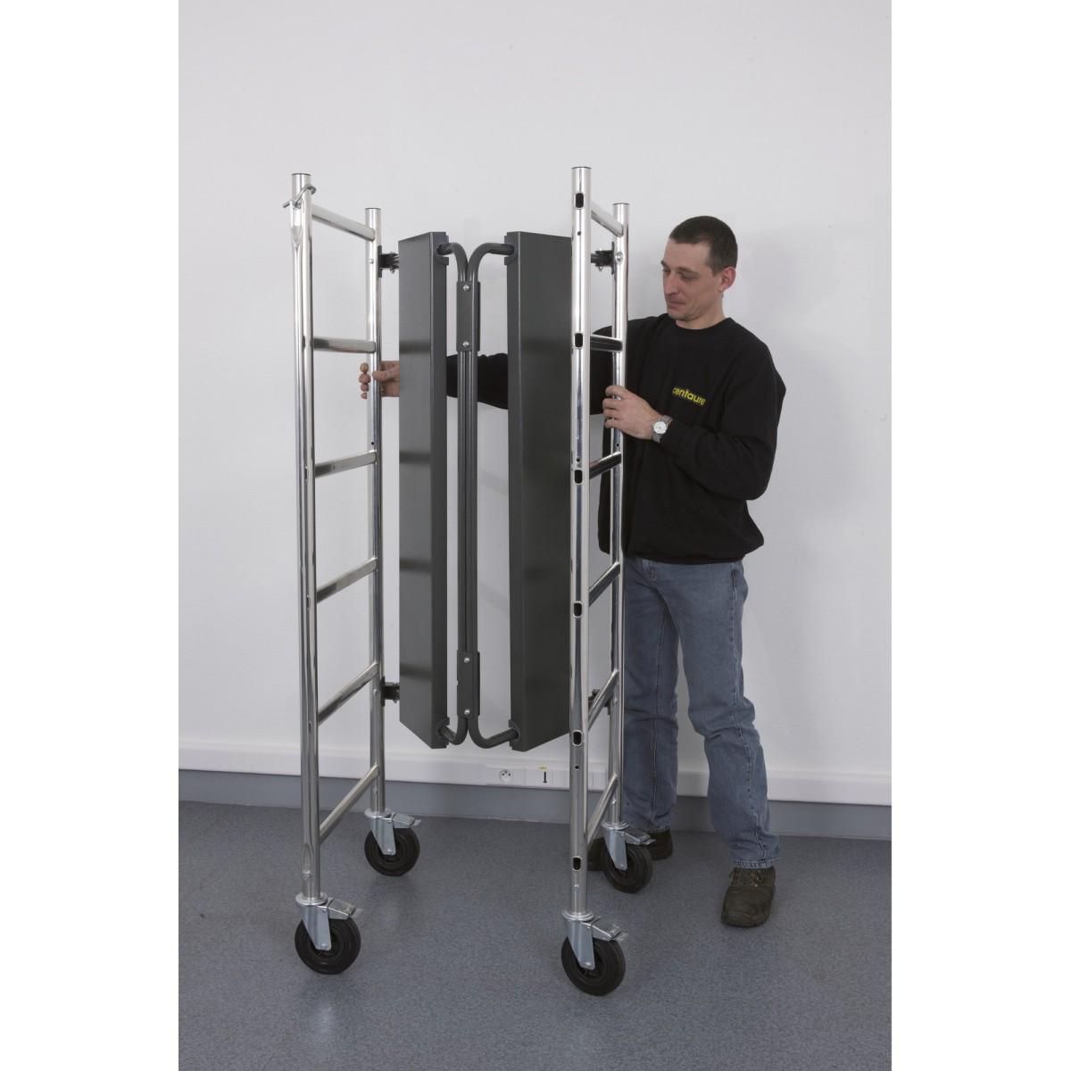 Échafaudage pliant aluminium - Chrono 3 - Centaure
