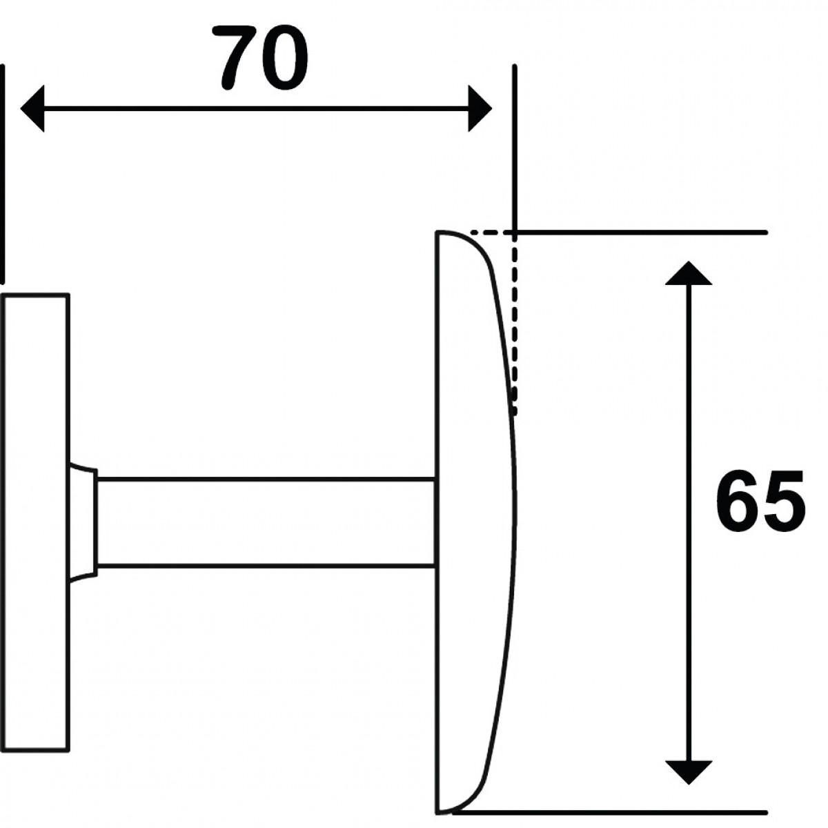 Patère 1 tête acier - Godonnier - Standard