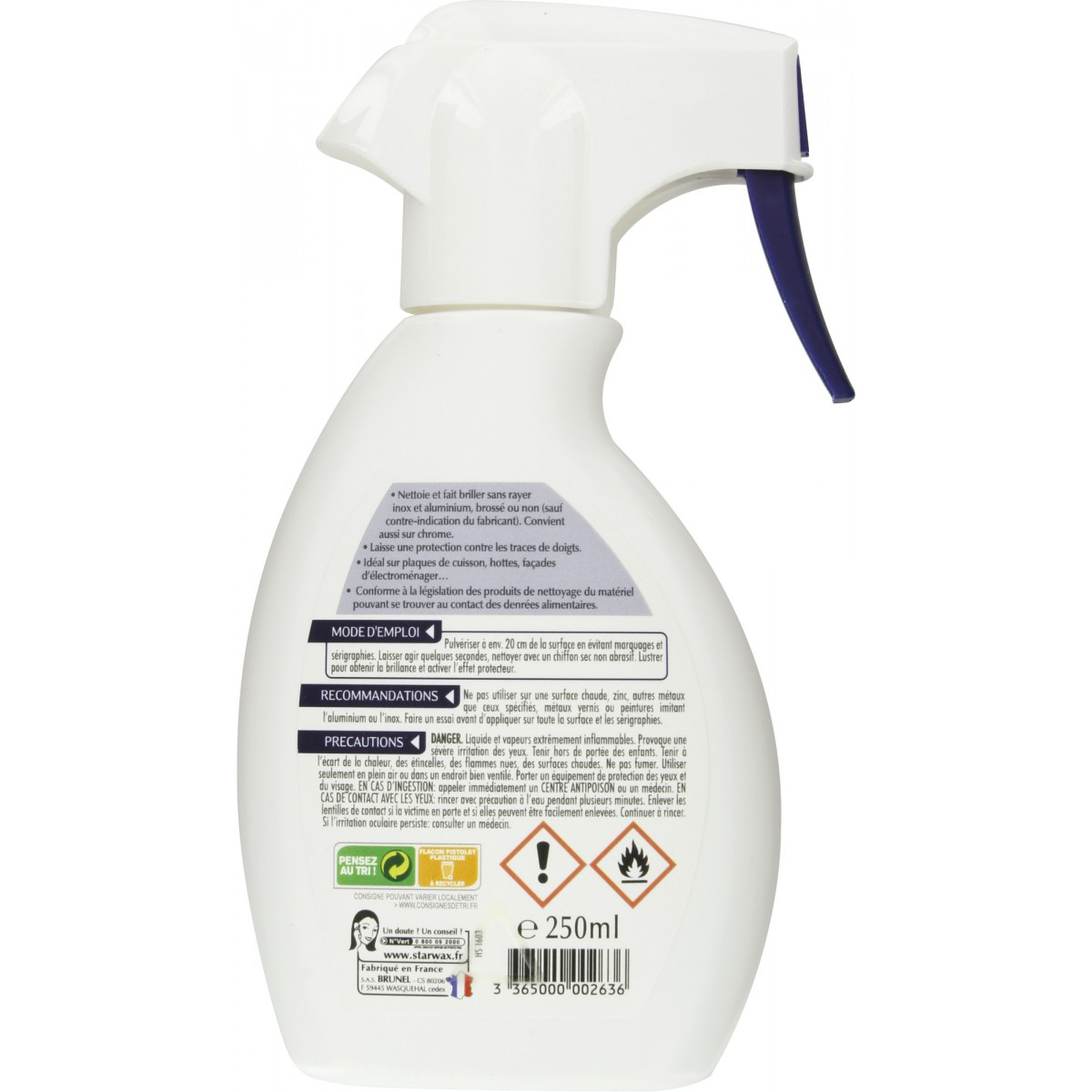 Nettoyant protecteur alu-inox Starwax - Pulvérisateur 250 ml