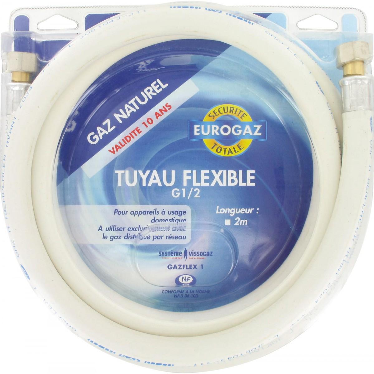 Flexible gaz naturel Eurogaz - Longueur 2 m