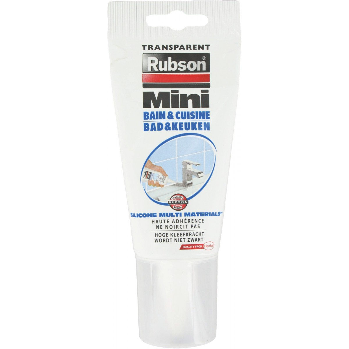 Mastic bain et cuisine Rubson - Tube 150 ml - Transparent