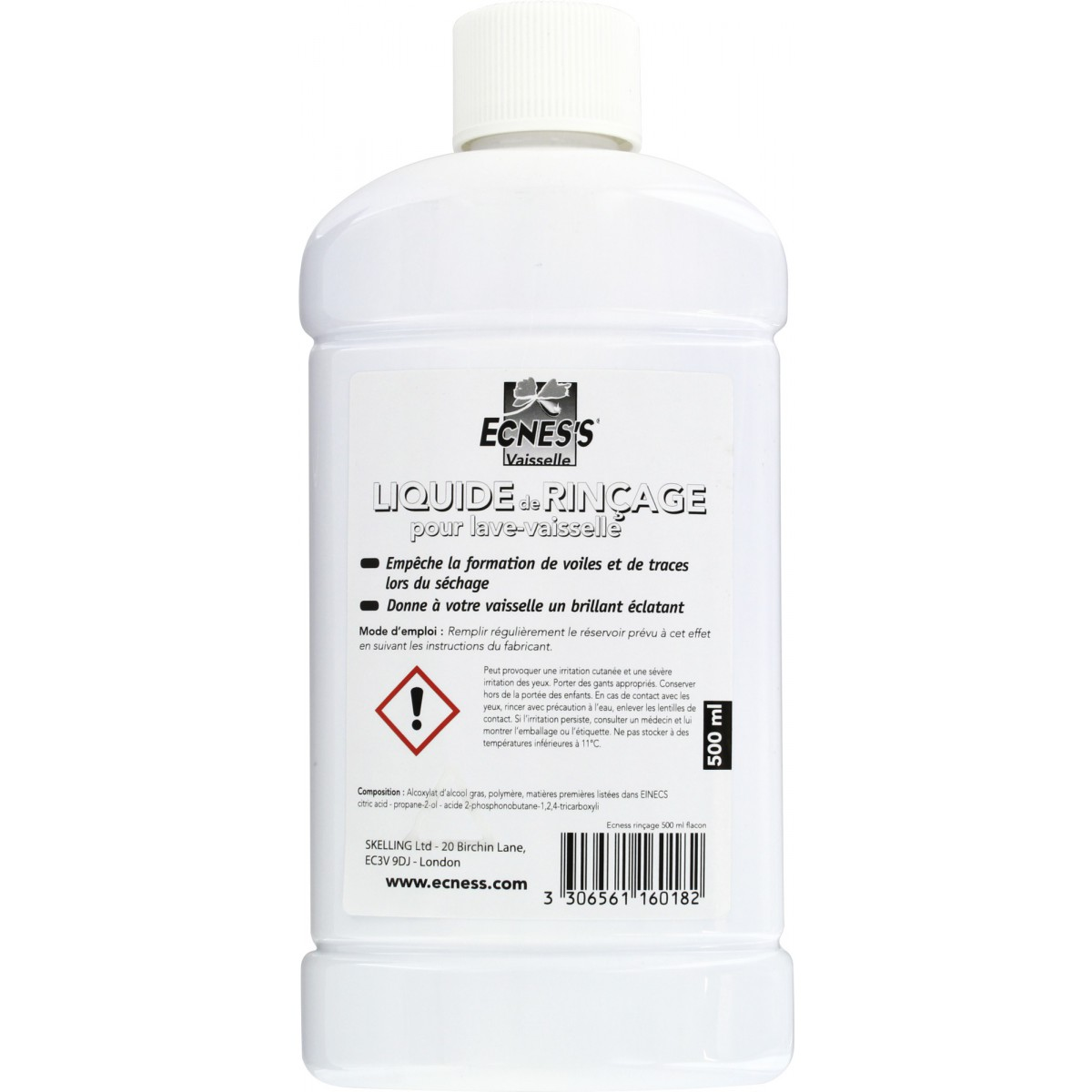 Liquide de rinçage Ecness - Flacon 500 ml