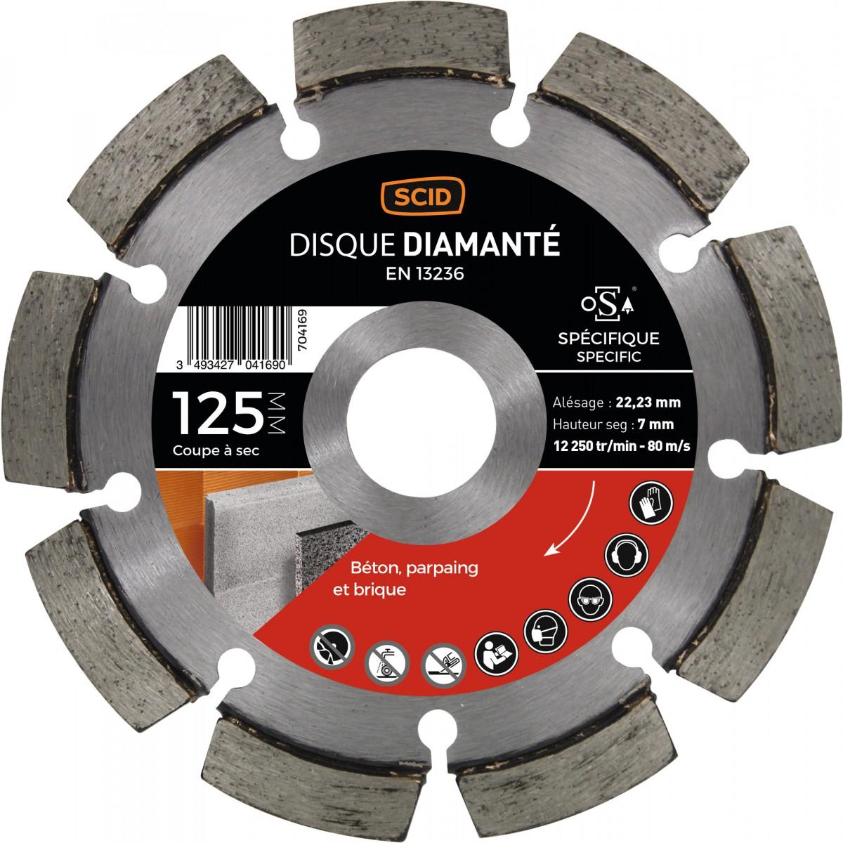 Disque diamanté à déjointoyer SCID - Diamètre 125 mm