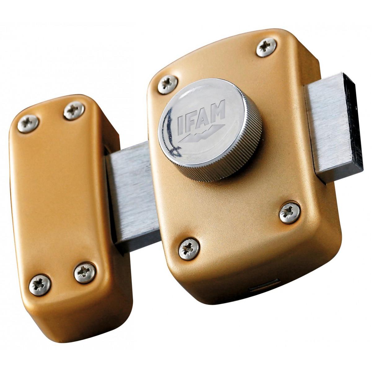 Verrou de sureté à bouton s'entrouvrant Ifam - Longueur 45 mm