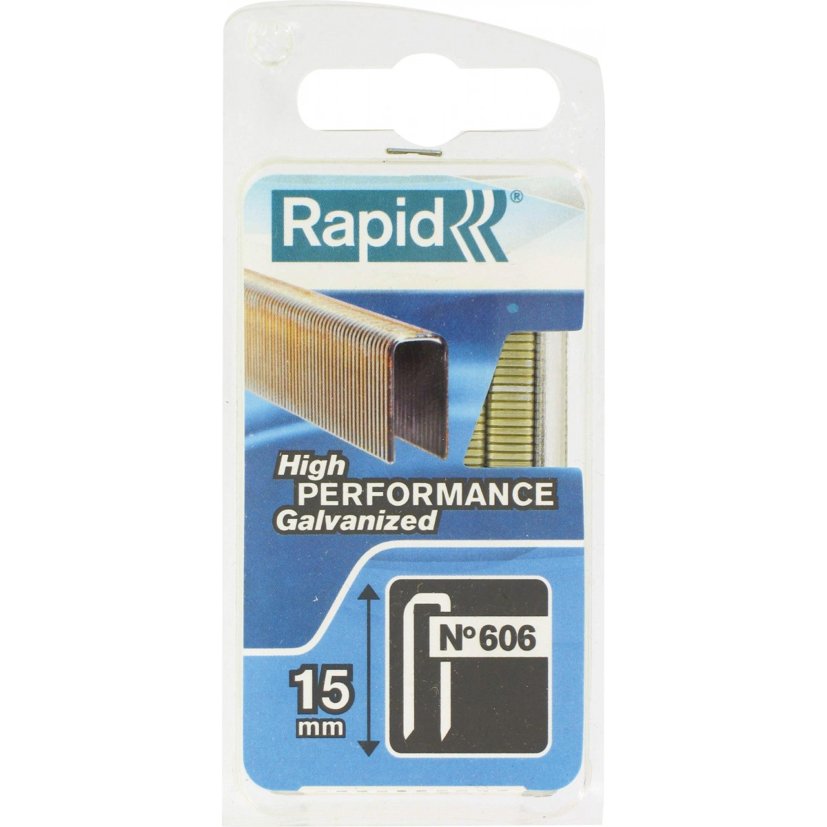 Agrafe n°606 Rapid Agraf - Hauteur 15 mm - 1200 agrafes