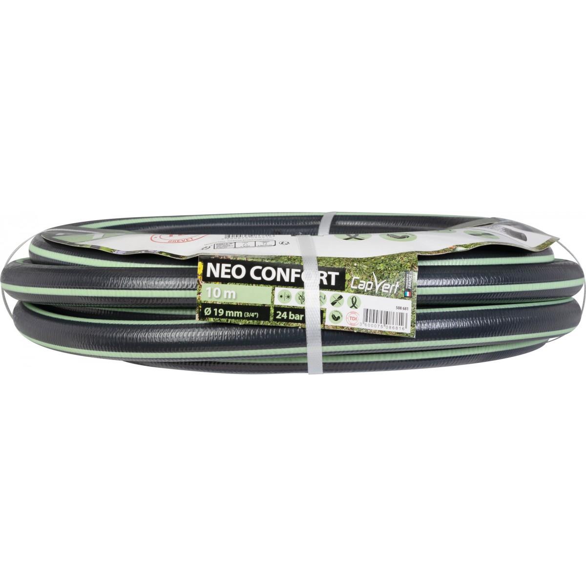 Tuyau d'arrosage Néo Confort Cap Vert - Diamètre 19 mm - Longueur 10 m
