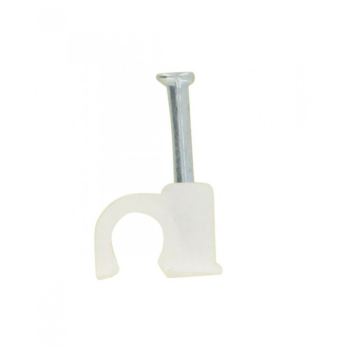 Pontet rigide blanc Dhome - Diamètre 14 mm - Vendu par 20