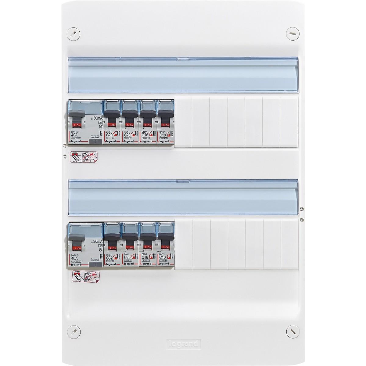 Tableau électrique équipé Legrand - Spécial pour logement T1 ou T2