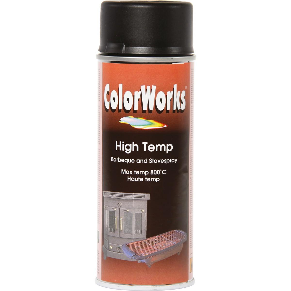 Peinture haute température Colorworks - Noir