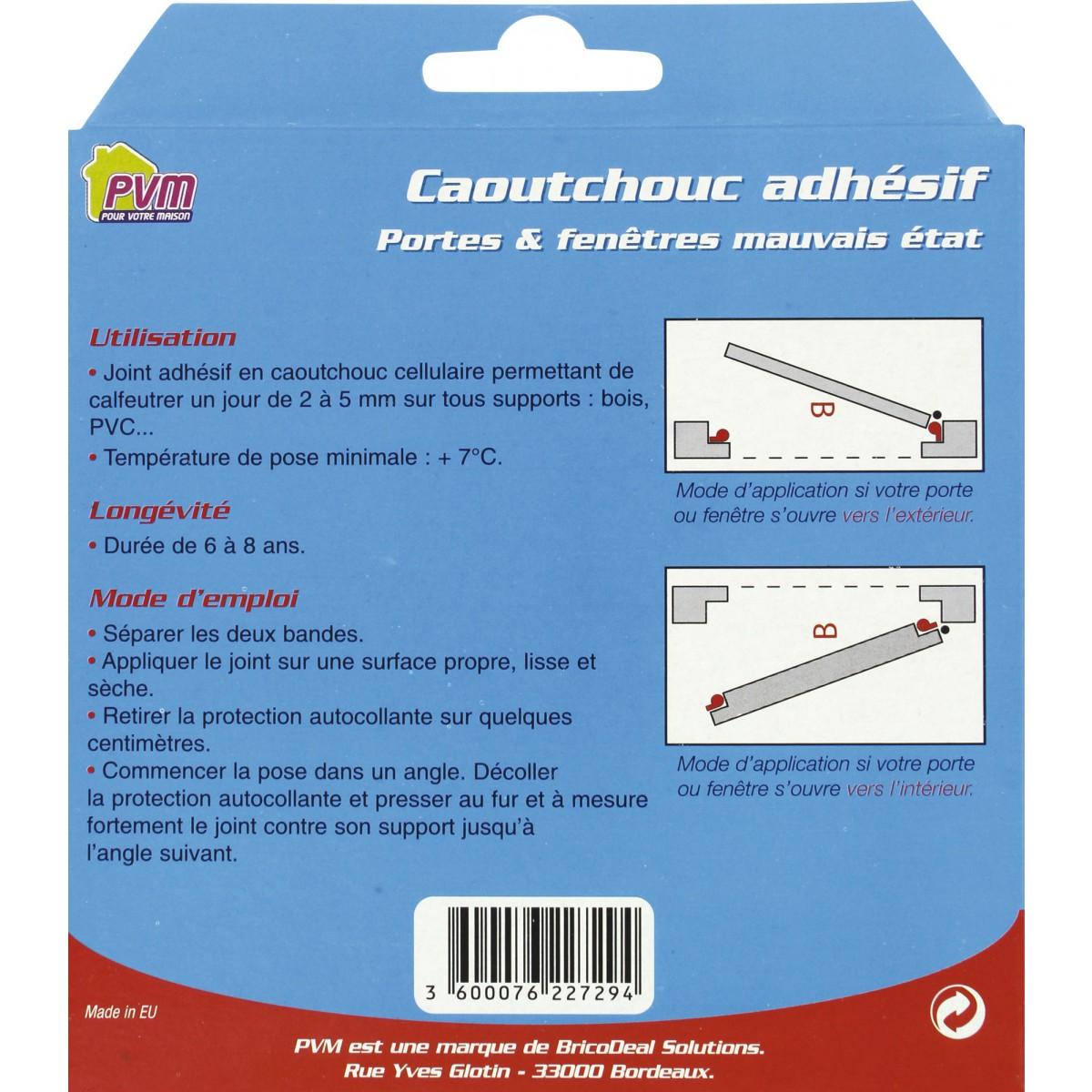 Joint caoutchouc profil P PVM - Blanc - Longueur 6 m