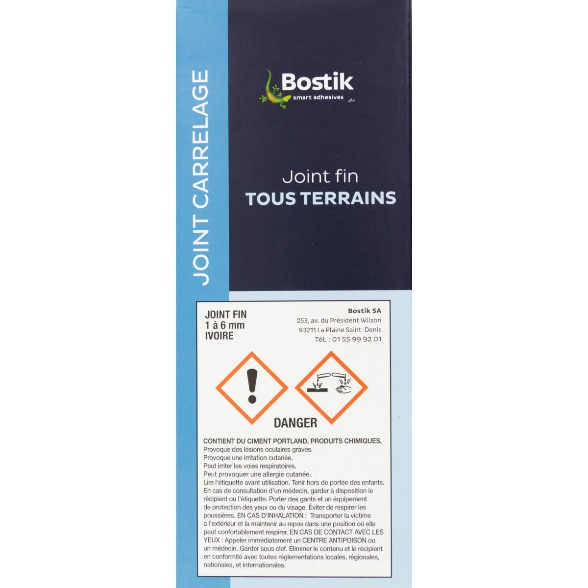 Joint fin poudre Bostik - Ivoire - Boîte 1 kg