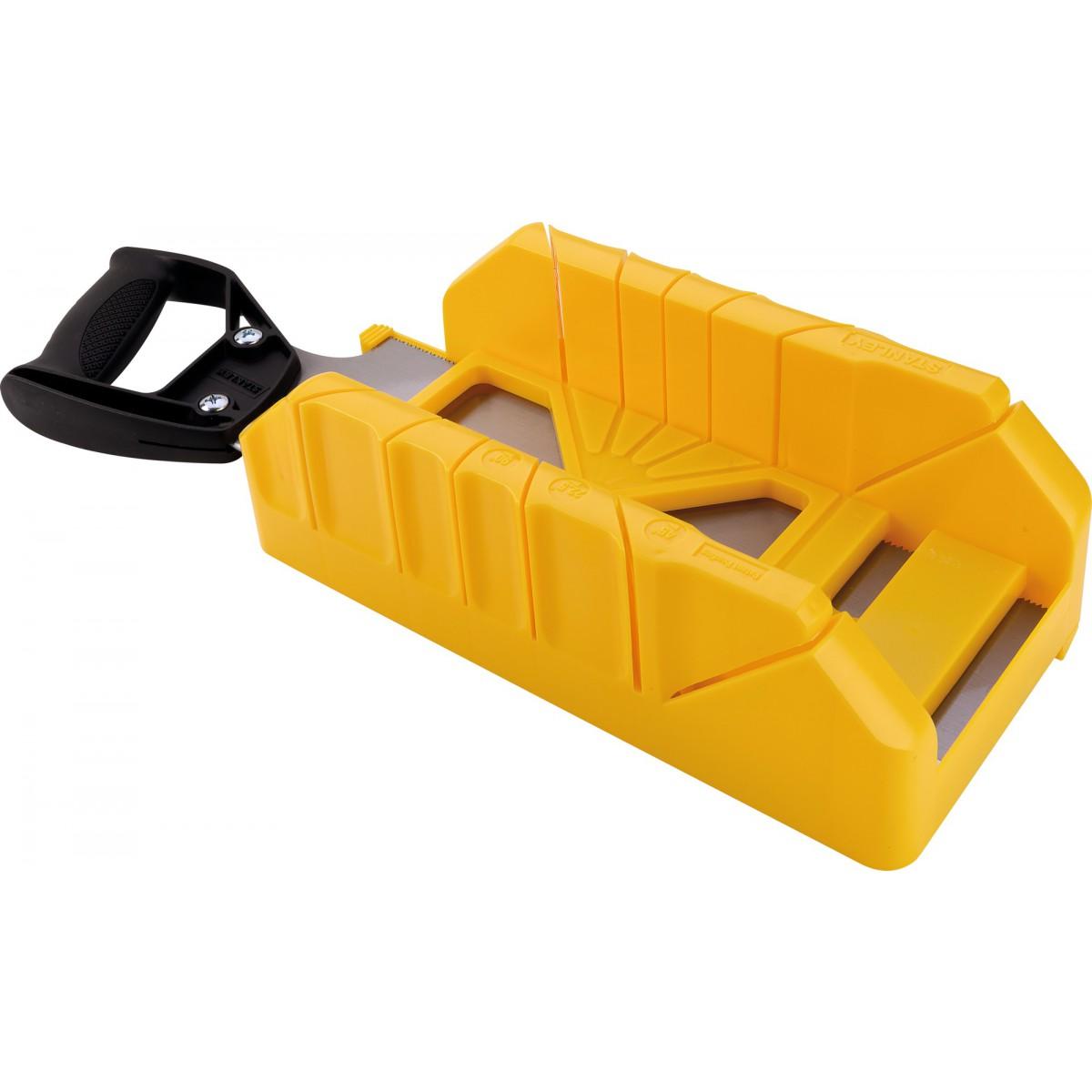 Boîte à coupe plastique + scie à dos Stanley - Longueur 350 mm