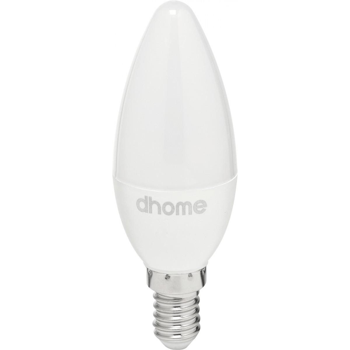 Ampoule LED flamme E14 dhome - 470 Lumens - 5 W - 4000 K - Vendu par 10