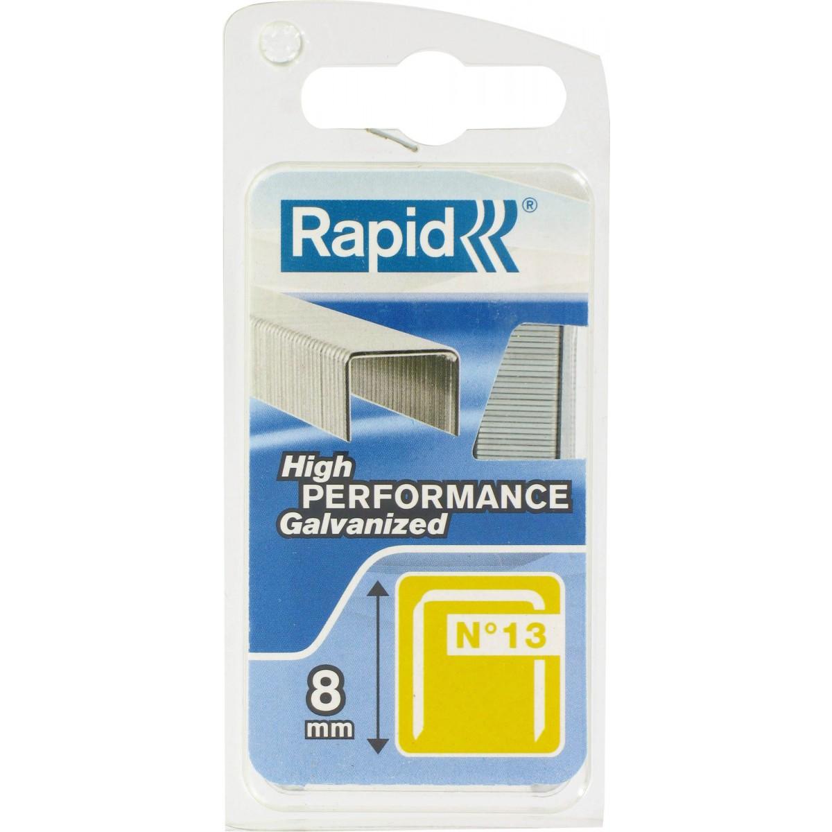 Agrafe n°13 Rapid Agraf - Hauteur 8 mm - 1600 agrafes