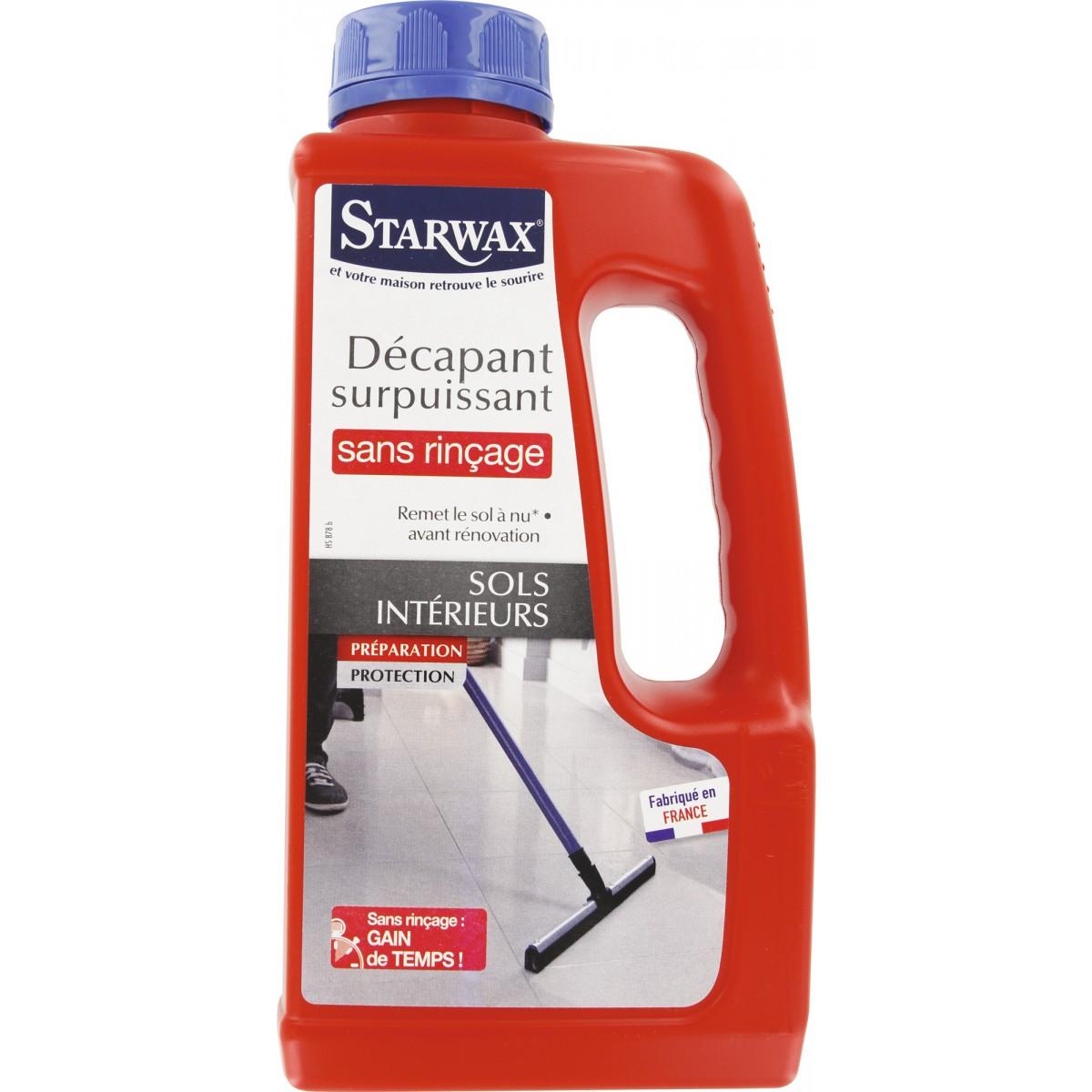 Décapant avant rénovation Starwax - Sans rinçage - Flacon 1 l