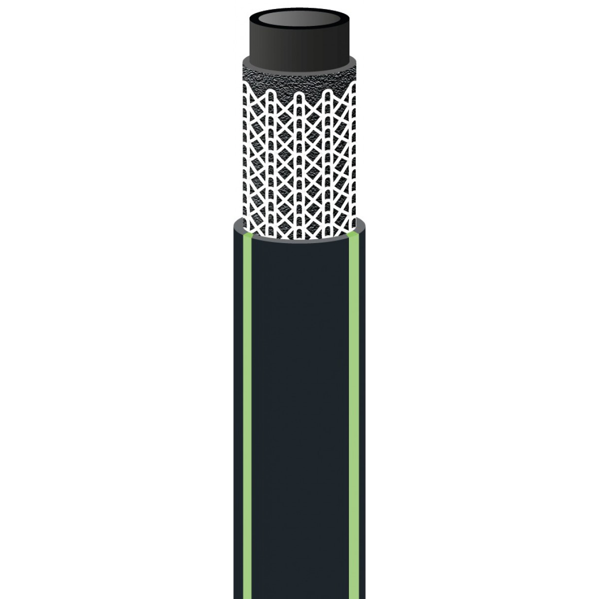 Tuyau d'arrosage Néo Confort Cap Vert - Diamètre 15 mm - Longueur 10 m