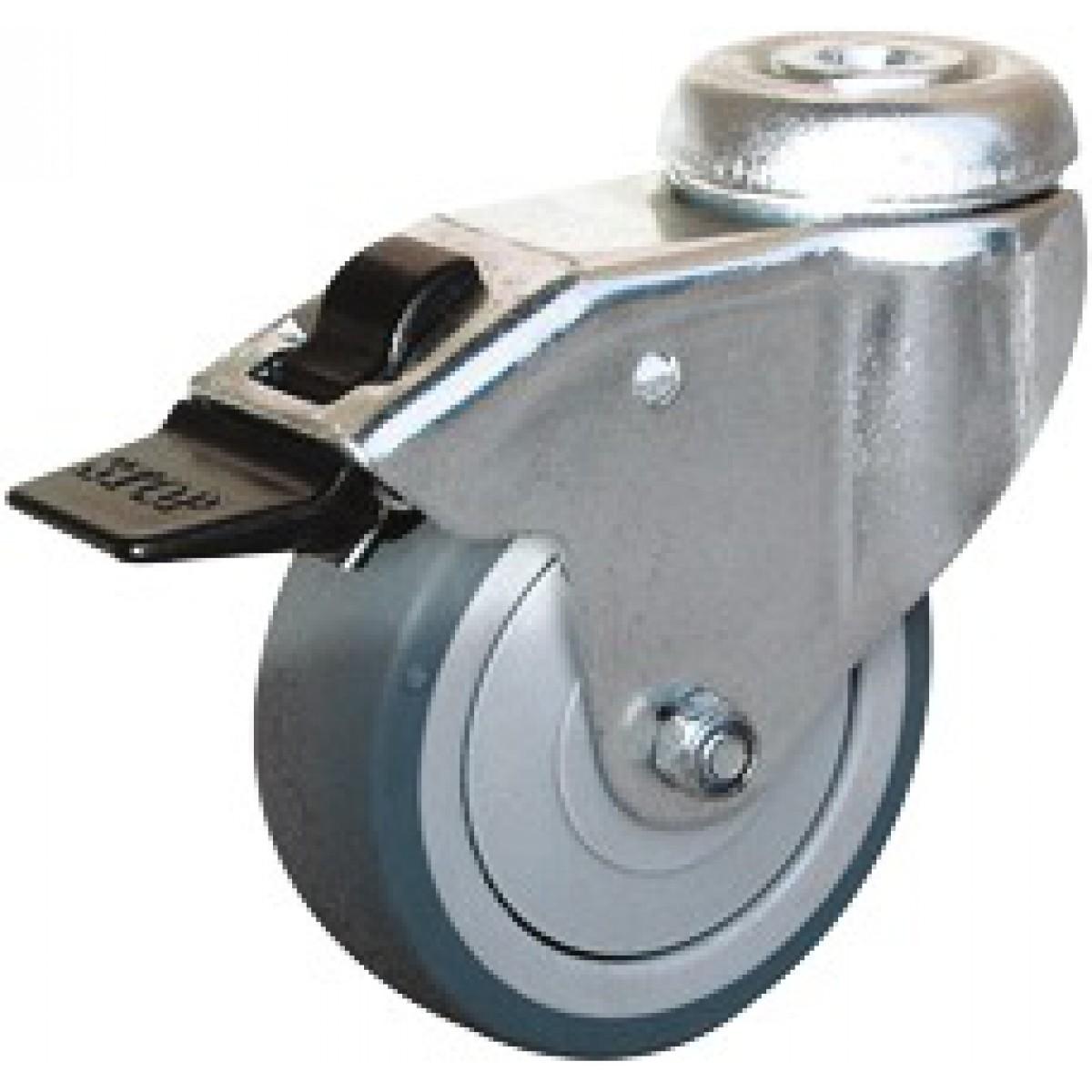 Roulette Uniroll à oeil pivotante à frein - Diamètre 50 mm