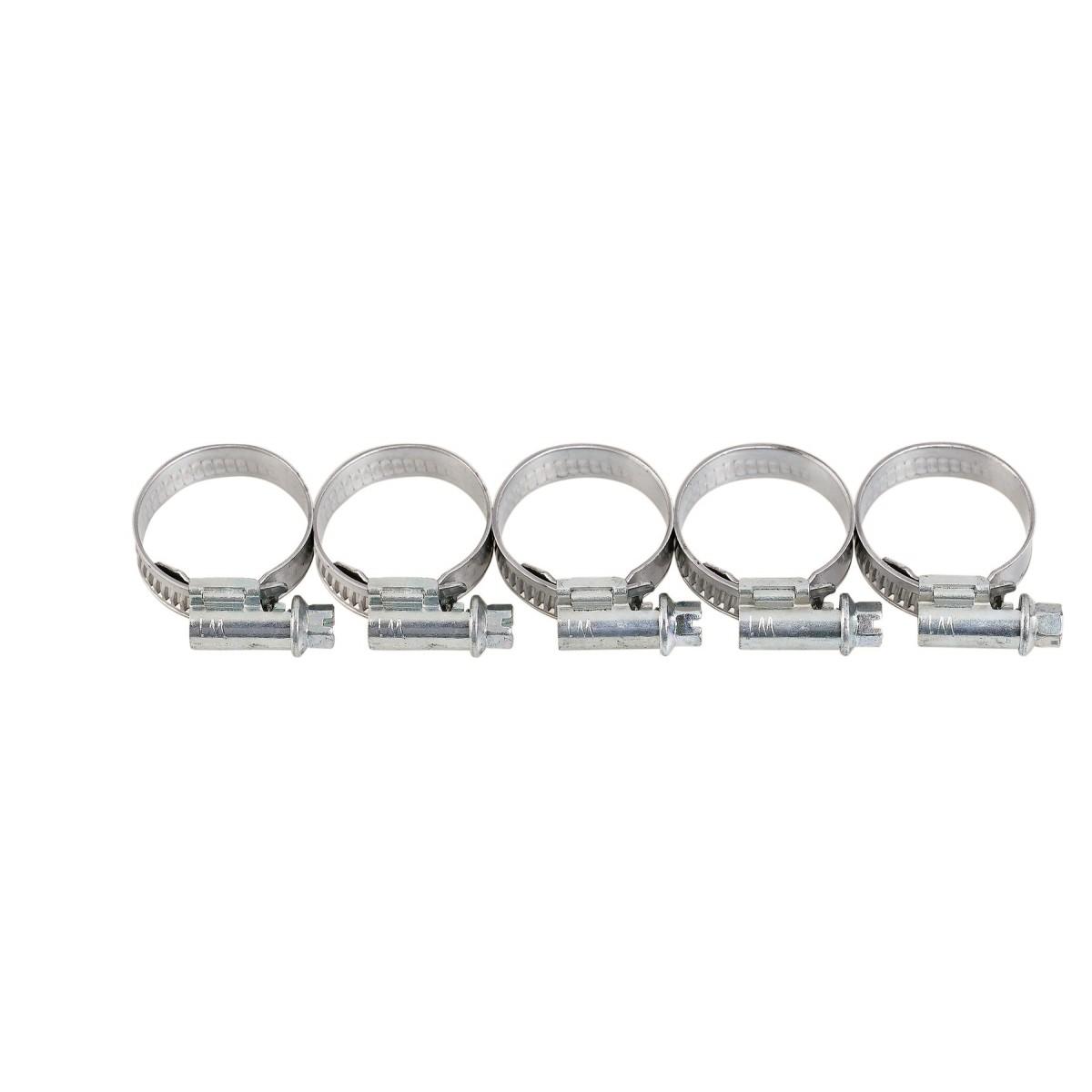 Collier à bande inox W4 Cap Vert - Diamètre 18 - 28 mm - Largeur 13 mm - Vendu par 5