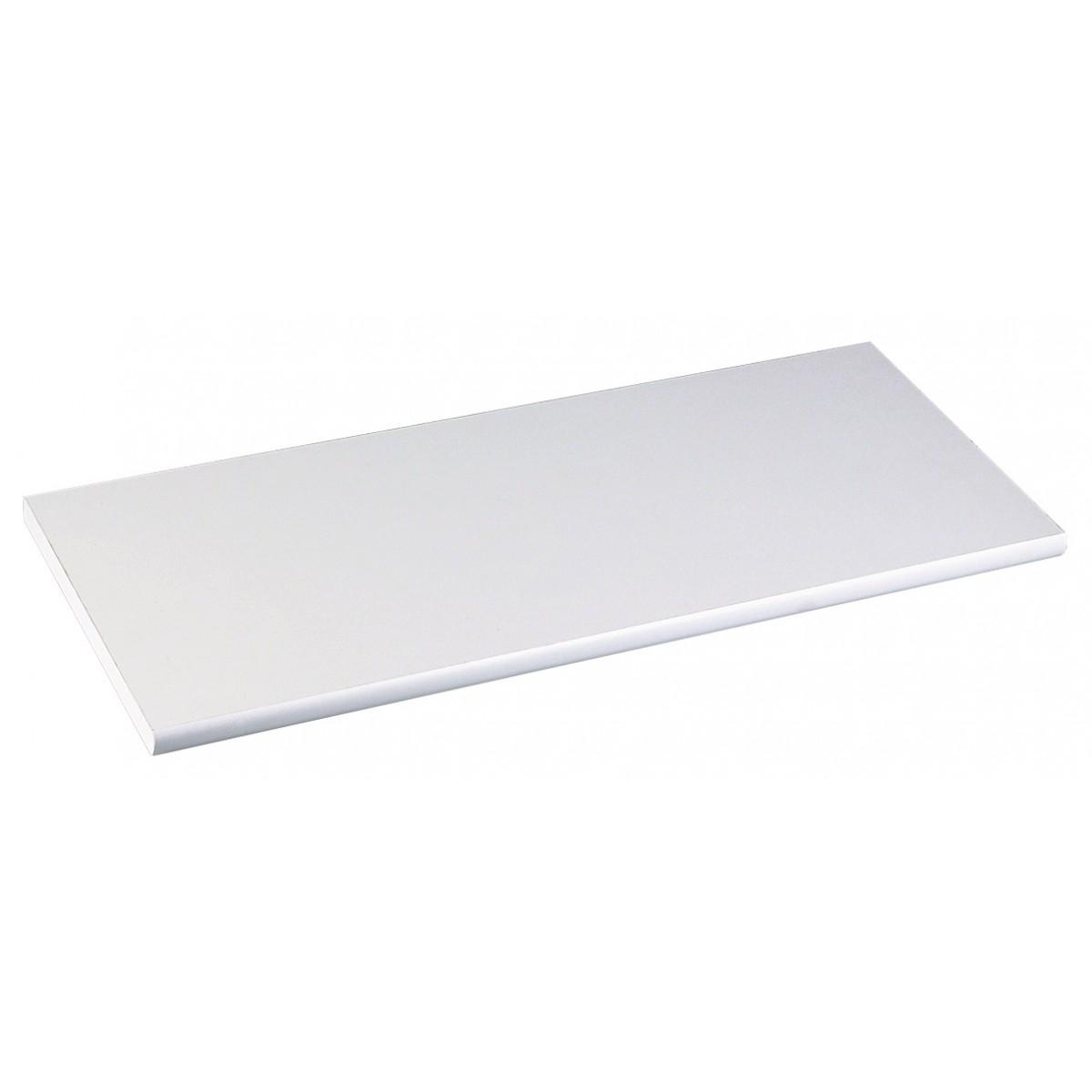 Tablette médium droite Mottez - Longueur 80 - Profondeur 25 cm - Epaisseur 18 mm - Blanc