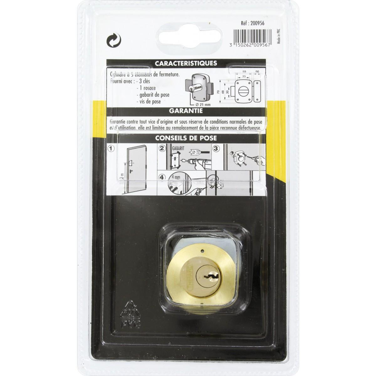 Verrou de sureté série Alouette Thirard - Dimensions 35 mm