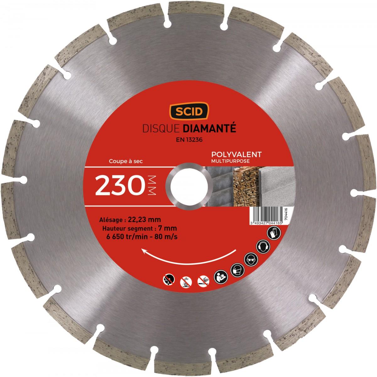 Lot de 2 disques matériaux standards