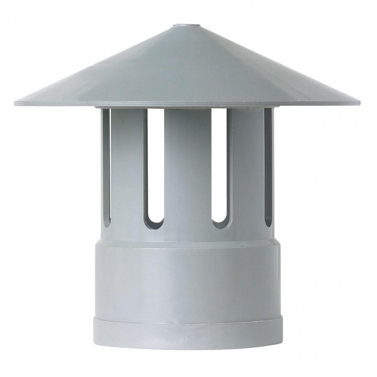 Chapeau à ventilation Girpi - Diamètre 40 mm - Gris
