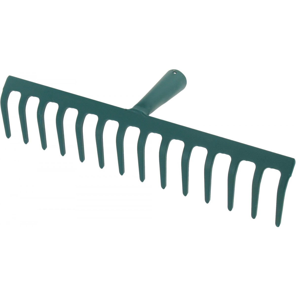 Râteau soudé dents courbes Cap Vert - Sans manche 14 dents