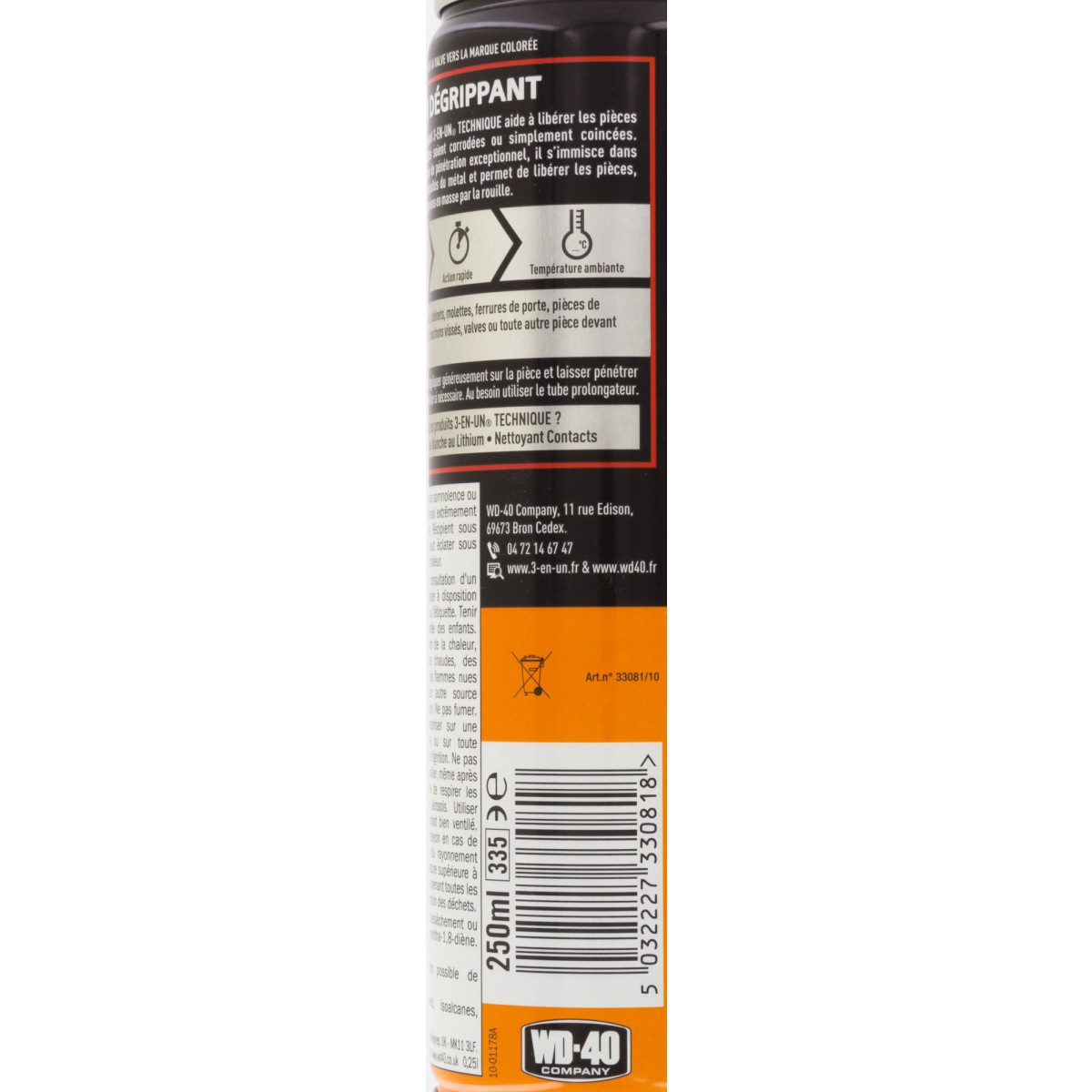 Super dégrippant 3 en 1 - Aérosol 250 ml